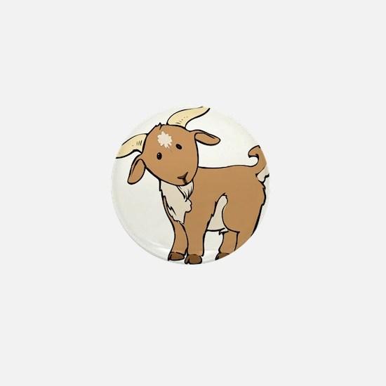 Cartoon Billy Goat Mini Button