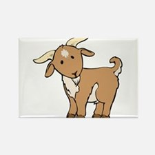 Cartoon Billy Goat Rectangle Magnet