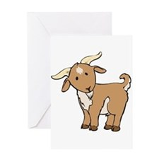Cartoon Billy Goat Greeting Card