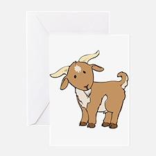 Cartoon Billy Goat Greeting Card