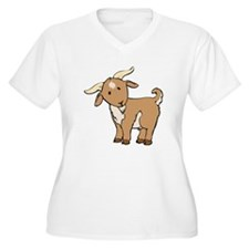 Cartoon Billy Goat Plus Size T-Shirt
