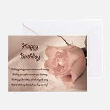 Elegant rose birthday card. Greeting Card