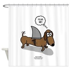 Fear Me Wiener Dog Shower Curtain