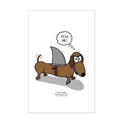 Fear Me Wiener Dog Posters