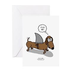 Fear Me Wiener Dog Greeting Card