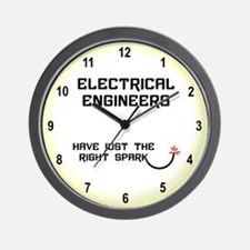 Electrical Engineers Spark Wall Clock