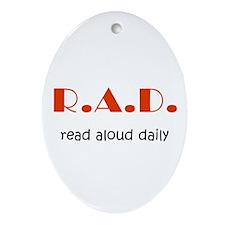 Read Aloud Daily Oval Ornament