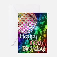 100th birthday disco ball and rainbow of stars Gre