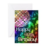 90th birthday party Greeting Cards