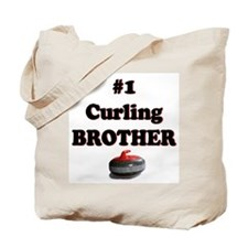 #1 Curling Brother Tote Bag