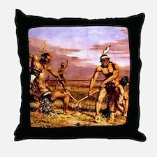 Wicked Sticks Lacrosse Throw Pillow