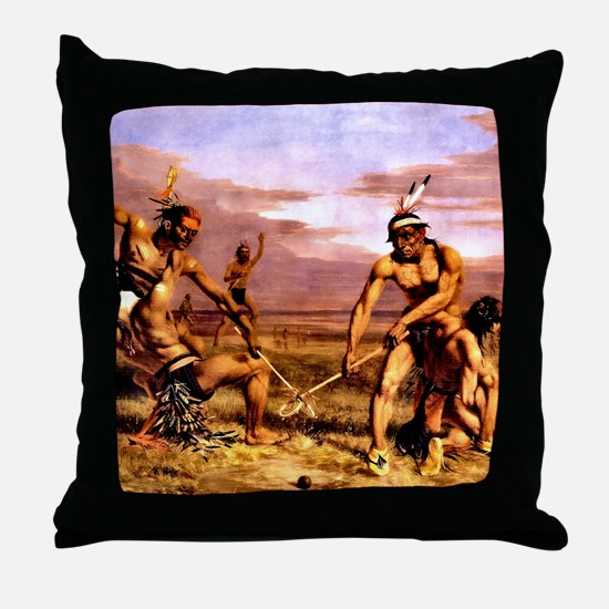 Wicked Sticks Lacrosse Throw Pillow