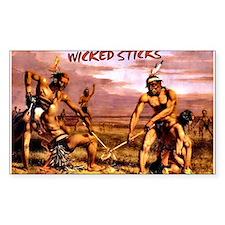 Wicked Sticks Lacrosse Sticker (rectangle)