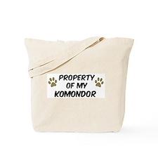 Komondor: Property of Tote Bag