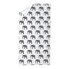 Damask Elephant Pattern Beach Towel
