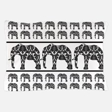 Damask Elephant Pattern Pillow Case