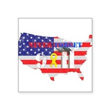 "Never Forget 9-11 Square Sticker 3"" x 3"""