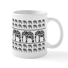 Damask Elephant Print Small Mug