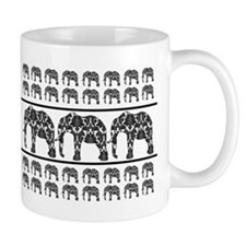 Damask Elephant Print Small Mug