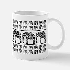 Damask Elephant Print Small Small Mug