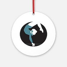 Gymnastics Ornament (Round)