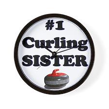 #1 Curling Sister Wall Clock