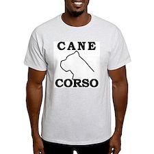Cane Corso Logo Black T-Shirt