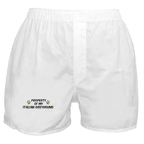Italian Greyhound: Property o Boxer Shorts