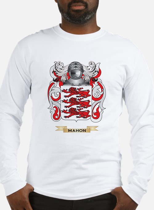 Mahon Coat of Arms - Family Crest Long Sleeve T-Sh