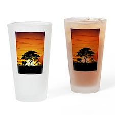 Wild Animals on African Savannah Sunset Drinking G