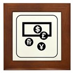 Money Exchange Framed Tile