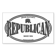 Republican Rectangle Decal