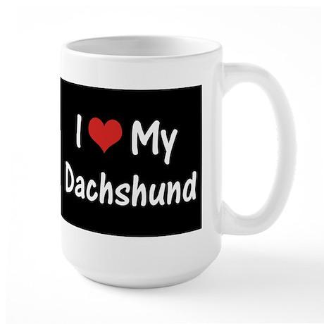 I Heart My Dachshund Large Mug