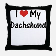 I Heart My Dachshund Throw Pillow