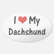 I Heart My Dachshund Decal
