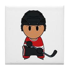 super hockey player yoshii Tile Coaster