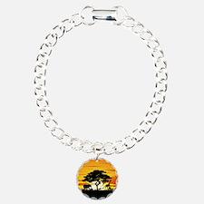 Wild Animals on African Savannah Sunset Bracelet