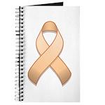 Peach Awareness Ribbon Journal