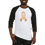 Peach Awareness Ribbon Baseball Jersey