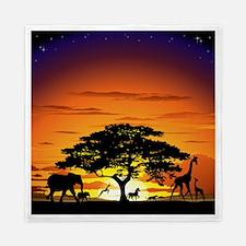Wild Animals on African Savannah Sunset Queen Duve