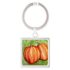 Pumpkins Square Keychain