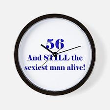 56 Still Sexiest 1C Blue Wall Clock