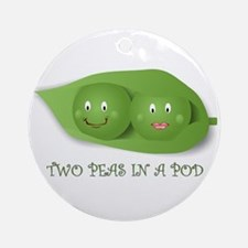 PEAS IN A POD Ornament (Round)