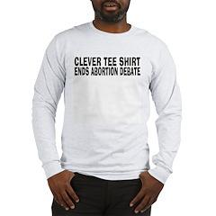 Abortion Debate Shirt (Grey LS) M