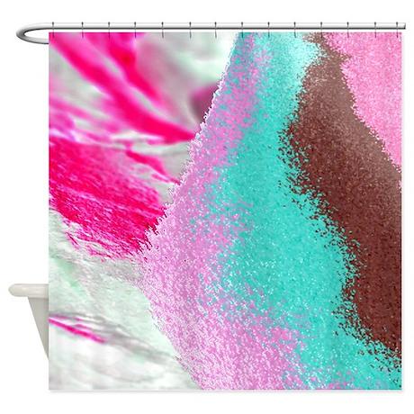 sand, pink, brown td Shower Curtain