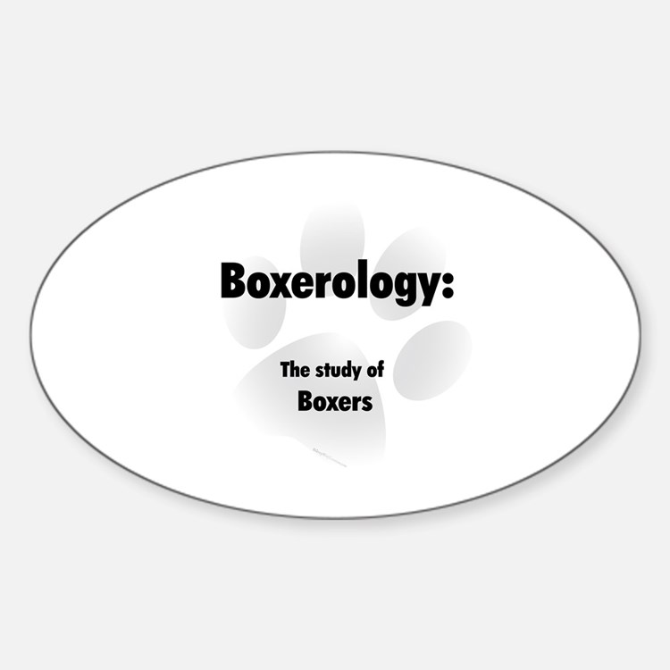 Boxerology Oval Decal