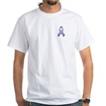 Periwinkle Awareness Ribbon White T-Shirt