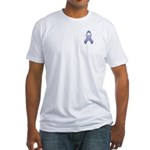 Periwinkle Awareness Ribbon Fitted T-Shirt