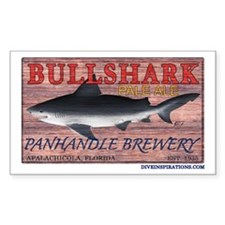 Bull Shark Pale Ale Rectangle Decal
