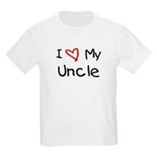 I Love My Uncle Kids T-Shirt